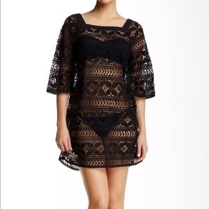 NWT $180 Gypsy05 Crocheted black Lace Cover-up XS
